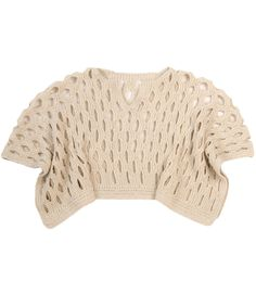 a343c62dc0 Hand-knit 100% baby alpaca capelet with shimmering silver lurex detail.  Alpaca Poncho