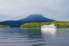 Lake Akan in Kushiro City, Hokkaido prefecture, Japan
