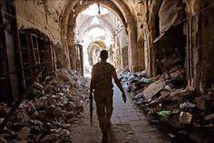 The destroyed Old City of Aleppo