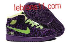 Jordan I Fluff Leopard Purple Shoes