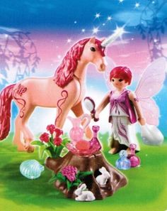 "rose fairy   Playmobil 5443 Pflege-Fee mit Einhorn ""Rosenrot"""