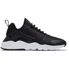 Nike Air Huarache Run Ultra ($115) ❤ liked on Polyvore featuring shoes, athletic shoes, sneakers, stretch shoes, nike athletic shoes, light weight shoes, woven stretch shoes and lock shoes