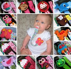 Baby Pacifier Clips, Baby Girl Pacifier Clip, Baby Boy Pacifier Clips, Cupcake, Owl, Car, Monkey and More - U Pick any 2 for 16