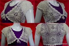 This is a free crochet pattern for elegant bolero with photo tutorial in each…