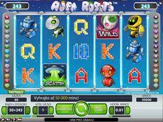 Výherný automat Alien Robots - Existuje množstvo rôznych hier a filmov o robotoch a mimozemšťanoch. Taktiež aj v zábavnom priemysle a pri tvorbe online výherných automatov bola už táto tematika niekoľko krát použitá, teda téma výherného automatu Alien Robots nie je žiadnou novinkou, avšak určite zaujme svojich hráčov grafikou a dynamikou hry. Automatovú hru Výherný automat Alien Robots si môžete zahrať na -  #hracieautomaty #vyherneautomaty #automatovehry #vyhra #jackpot #alienrobots
