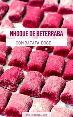 Beetroot Gnocchi with Sweet Potato Veggie Recipes, Mexican Food Recipes, New Recipes, Vegetarian Recipes, Healthy Recipes, Cooking Recipes, Vegan Foods, Vegan Dishes, Low Carp