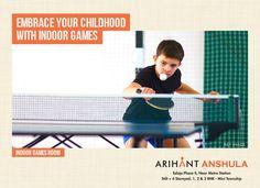 Arihant Anshula - Taloja Phase II 1, 2 & 3 BHK Mini Township Indoor Games Room www.asl.net.in/arihant-anshula.html #ArihantAnshula #RealEstate #Taloja #NaviMumbai #Property #LuxuryHomes