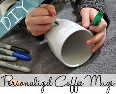 DIY Personalized Coffee Mugs