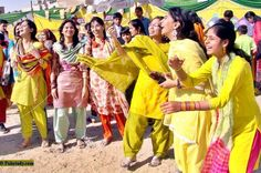 Jubiliation of Pakistani Girls in the famous Basant Festival