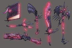 Fantasy Magic, Fantasy Sword, Dark Fantasy Art, Armor Concept, Weapon Concept Art, Dungeons And Dragons Classes, Cool Swords, Sword Design, Anime Weapons