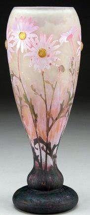 Daum - Art Nouveau - Vase 'Marguerites'