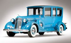 1937 Packard Formal Limousine--bet it came off the line BLACK not blue though.
