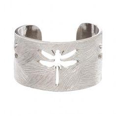 Dragon Fly Cuff in Silver