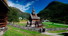 Borgund Stave Church located in Borgund, Lærdal, Norway. It was built sometime between 1180 and 1250 AD with later additions and restorations.