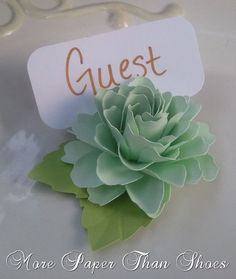 Wedding place card holders the lady flora handmade paper flower by wedding place card holders the lady flora handmade paper flower by dragonflyexpression stampin up flowers pinterest handmade paper flowers mightylinksfo