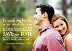 My Save the Dates!! LOVE!! #gingerpdesigns #etsy by HeidiRuiz
