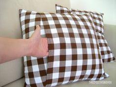 Make Simple Envelope Closure Pillow Covers | Eeny Meeny & Moe