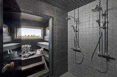 Kotitalo Tähkä, musta seinälaatta Style 30x60