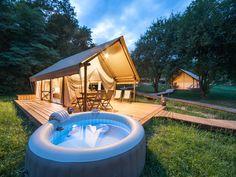 Glamorous glamping tent at Chateau Ramšak glamping resort in Slovenia
