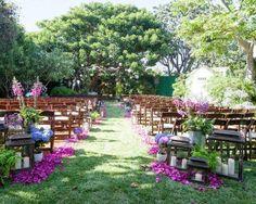 Trauung im Freien Outdoor Hochzeit, Hochzeit im Garten