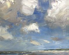 """Painting Clouds Seascape """"White Powerful Clouds"""""""