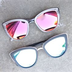 Polycarbonate and Nickel Free Metal-Frame by Aussie eye wear fave brand, Quay. Please be careful around water as these sunglasses are not waterproof. Poly Carbonate LensCat. 3 Lens 100% UV protection.