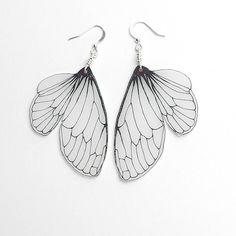 Cicada+wing+dangle+earrings+by+horseflesh+on+Etsy,+$17.00