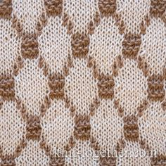 Knit Together | Two-Color Diamonds Jacquard Pattern, knitting pattern chart, Jacquard Knitting Patterns