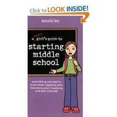 Great for 2nd Semester of 5th grade.  Counseling Corner: A Smart Girl's Guide to Starting Middle School