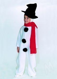 disfraz de muñeco de nieve ideal para Navidad