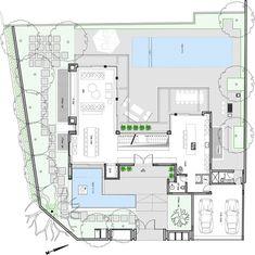 Hotel Floor Plan, House Floor Plans, Tropical House Design, Modern House Design, Concept Architecture, Architecture Design, Mansion Plans, Planer Layout, Villa Plan