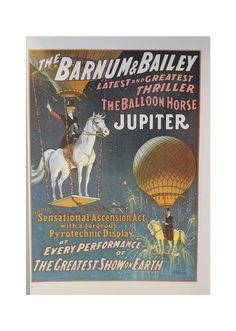 vintage circus poster with horses