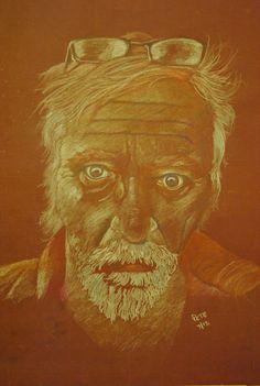 September Self Portrait - coloured pencils -  pete holbrook