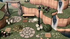 acnh cottagecore - Twitter Search / Twitter Animal Crossing Wild World, Animal Crossing Guide, Animal Games, My Animal, Picnic Images, Nintendo Switch, Stone Archway, Motifs Animal, Entrance Design