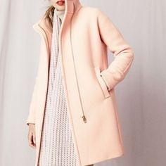 J crew stadium cloth cocoon coat pale ginger 00 Brand new with tags!!!!!!! J. Crew Jackets & Coats