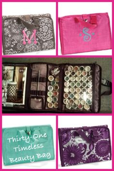 Thirty-One Timeless Beauty bag used to organize Scentsy samples!! Visit my website to order your favorite!! www.MyThirtyOne.com/KiraMoore