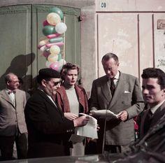 Roberto Rossellini, Ingrid Bergman, George Sanders, Amalfi, Italy, April 1953, filming 'Viaggio //Robert Capa