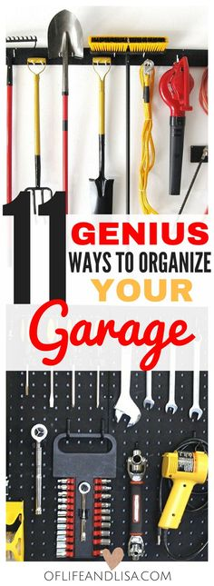 Now that summer is here, it is the perfect time to clean, declutter and organize our garages and have some family fun. If you've been looking for garage storage ideas… …you've come to the right place, my friend! In this post, I will share with you 13 simply amazing garage organization ideas that will blow …