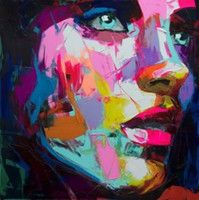 Nueva-100% pintado a mano la impresión de la pintura al óleo sobre lienzo la figura Mujeres Cara Inicio / pared del arte moderno Pinturas abstractas No Frame B12