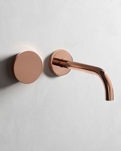 Zen Well Mounted 2 Hole Basin Mixer Finish: Polished Copper www.thewatermarkcollection.eu