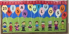 April 23 visual results related to panel decorations - New Deko Sites Primary School, Pre School, Educational Activities, Preschool Activities, Children's Day Craft, English Classroom Decor, Class Bulletin Boards, Diy And Crafts, Crafts For Kids