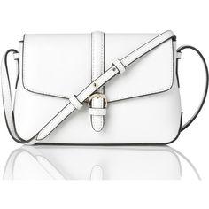 L.K. Bennett Megan White Mini Crossbody Bag found on Polyvore featuring bags, handbags, shoulder bags, white, handbags purses, purse shoulder bag, purse crossbody, mini shoulder bag and crossbody shoulder bags