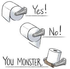 #FunFact: Most people prefer their toilet paper to go over, not under. 1 in 5 get annoyed if it faces the wrong