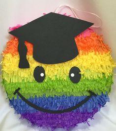Graduation Emoticon Pinata Rainbow Colors Kindergarden Graduation