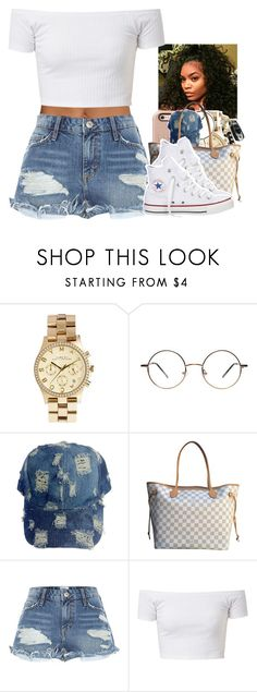 """Untitled #2040"" by toniiiiiiiiiiiiiii ❤ liked on Polyvore featuring Marc by Marc Jacobs, Louis Vuitton, River Island and Converse"