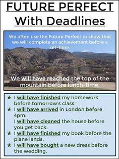 FUTURE PERFECT With Deadlines #English
