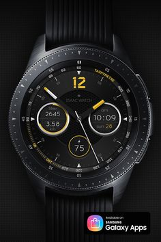 ISAAC WATCH (Grace - yellow edition) -Digital time -Numeric date & Day of week -Steps count & Steps % -Moved distance -Battery % Digital Watch Face, Face Design, Ben 10, Watch Faces, Man Style, Smartwatch, Luxury Watches, Omega Watch, Distance