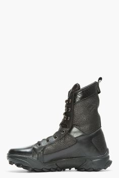 check out 75025 d8e2c Y-3 Black Leather GSG3 Boots Lit, Cuir Noir, Adidas, Mode Homme