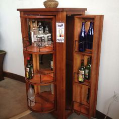 Incroyable Whiskey Barrel Liquor Cabinet With Double Lazy Susans | Pinterest | Liquor  Cabinet, Whiskey Barrels And Liquor