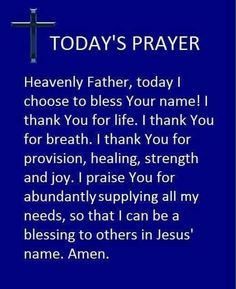 Today's Prayer